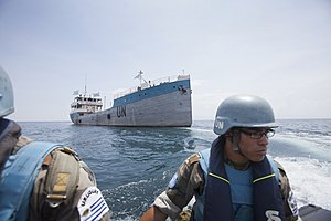 MONUSCO - Members of Uruguayan Riverine Company on patrol on L. Tanganyika
