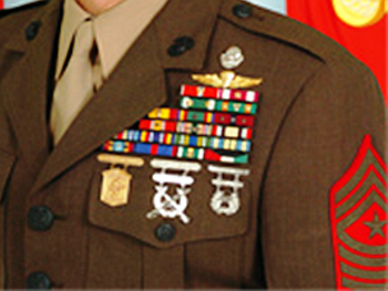 USMC Ribbons and Badges