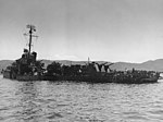 USS Aaron Ward (DM-34) in the Kerama Retto anchorage in May 1945.jpg