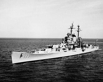 USS Albany (CA-123) - USS Albany (CA-123), 15 January 1955.