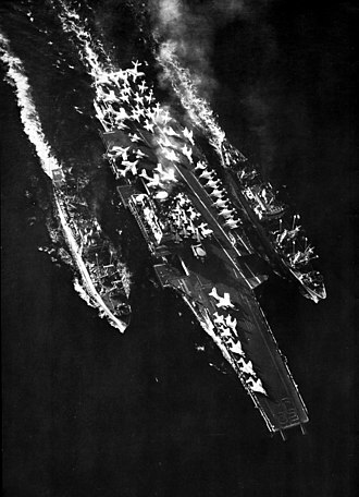USS Altair (AK-257) - Image: USS Forrestal (CVA 59) USS Nitro (AE 23) USS Altair (AKS 32) underway in 1965