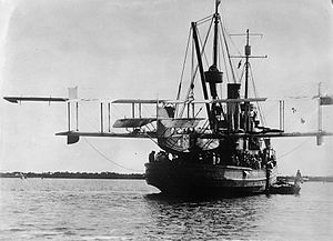 The ship in 1922 with aircraft