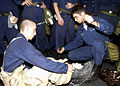 US Navy 021130-N-1356A-006 Constellation Sailors conduct Chemical, Biological and Radiation (CBR) defense training.jpg