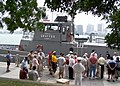 US Navy 050718-N-3342W-003 The Naval Sea Cadet ship USNSCS Gray Fox draws a crowd as it moors at Hart Plaza in downtown Detroit.jpg