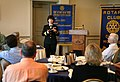 US Navy 070501-N-3271W-001 Rear Adm. Karen Flaherty, Deputy Commander, Navy Medicine, National Capital Area, speaks to the Omaha Morning Rotary Club.jpg