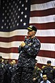 US Navy 100106-N-8273J-359 Chief of Naval Operations (CNO) Adm. Gary Roughead answers questions from Sailors aboard the aircraft carrier USS Nimitz (CVN 68).jpg