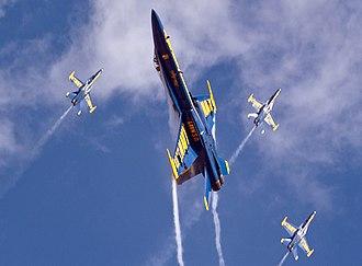Miramar Air Show - The U.S. Navy Blue Angels perform at the Miramar Air Show
