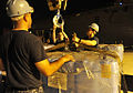 US Navy 110311-N-0864H-821 USS Blue Ridge (LCC 19) on-load humanitarian assistance supplies in Singapore to ensure the ship and crew are ready to s.jpg