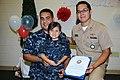 US Navy 110728-N-GW918-001 Personnel Specialist 2nd Class Enrique Ramirez, left, and Lt. Lino Gutierrez, both assigned to Navy Personnel Comman.jpg