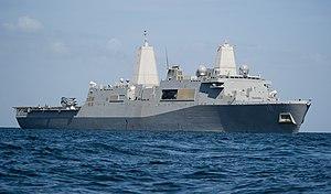 US Navy 120207-N-PB383-356 The amphibious transport dock ship USS New Orleans (LPD 18) is underway in the Arabian Gulf.jpg