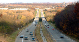 Sagamore Parkway (as seen from West Lafayette)