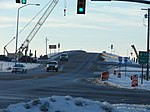 UT SR-77 construction, west at I-15 interchange, Jan 09.jpg