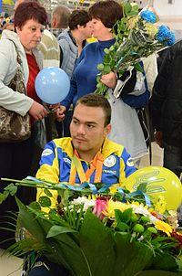 Ukraine Paralympics team at Boryspil 2016 031.jpg
