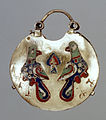 Ukrainian - Temple Pendant (Kolt) with Two Birds - Walters 44297.jpg