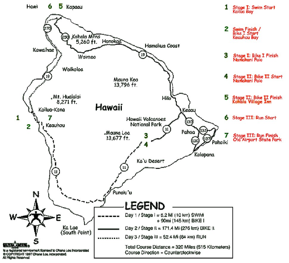 Ultraman World Championships Course Map