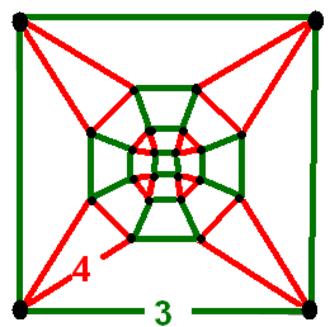 Cubic-octahedral honeycomb - Image: Uniform t 0 4343 honeycomb verf