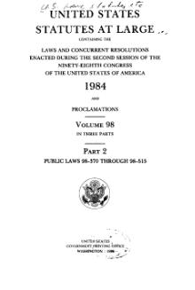 United States Statutes at Large Volume 98 Part 2.djvu