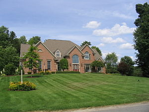 Lysander, New York - Home in Lysander. Upscale homes are becoming common-place in this suburban town.