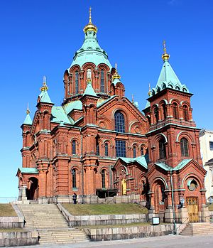 Religion in Finland - Uspenski Cathedral in Helsinki belongs to Finnish Orthodox Church.