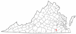 Location of Jarratt, Virginia
