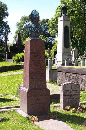 Gisle Johnson - Gisle Christian Johnson monument at Vår Frelsers gravlund, Oslo