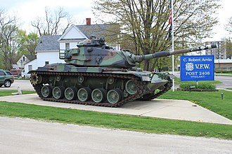 Veterans of Foreign Wars - M60 Main Battle Tank on display at C. Robert Arvin Post No. 2408.