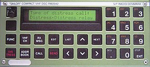 Digital selective calling - A Sailor VHF DSC unit