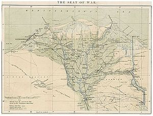Anglo-Egyptian War - The Seat of War - Alexandria and the Nile-Delta (1882)