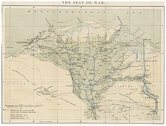 Anglo-Egyptian War - The Seat of War – Alexandria and the Nile-Delta (1882)