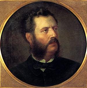 Aristotelis Valaoritis - Portrait of Aristotelis Valaoritis by Spyridon Prosalentis.