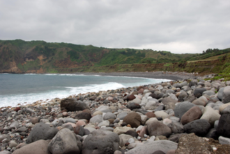 Shingle beach - A shingle beach in Batanes, Philippines
