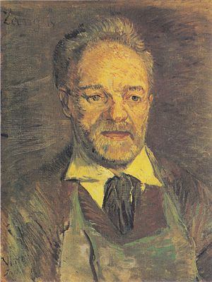 Portrait of Père Tanguy - Portrait of Père Tanguy,  winter 1886/87. (47x38.5cm) (F263)