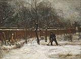 Van Gogh - Der Pfarrgarten in Nuenen im Schnee1