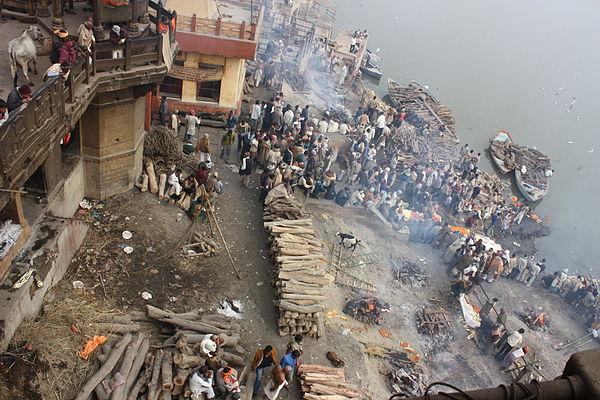 Likbål vid Ganges
