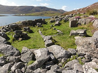Barra - Iron Age wheelhouse near Vatersay