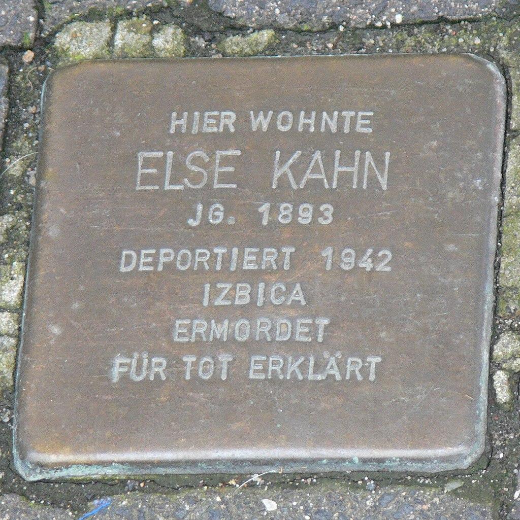 Veitshöchheim - Stolperstein Else Kahn (Thüngersheimer Straße 36).jpg