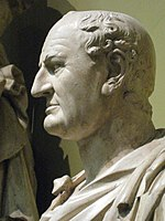 On December 21, 69, Vespasian was declared emperor by the Roman Senate. Plaster cast from the Pushkin Museum, Moscow.