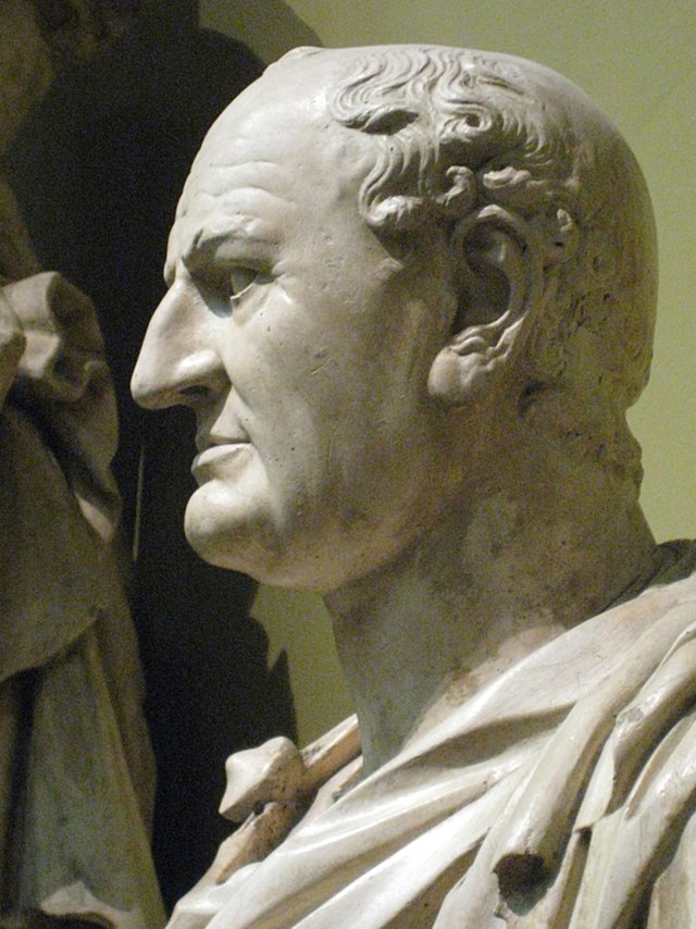 A bust of Vespasian
