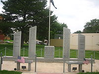 Veterans Memorial at Donley County, TX, Courthouse Picture 2162