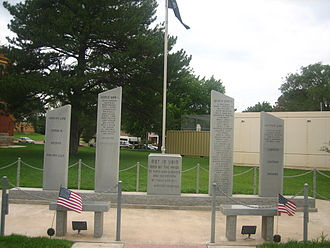 Donley County, Texas - Veterans Memorial at Donley County Courthouse