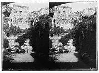 Via Dolorosa, beginning at St. Stephen's Gate. Remains of Crusader church. LOC matpc.05019.jpg