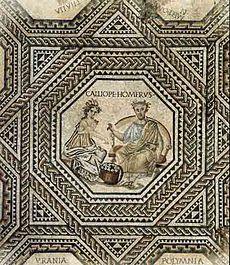 Victen Roman muse mosaic
