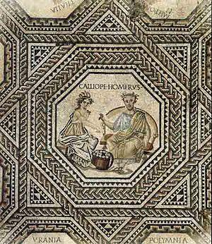 Luxembourg art - Image: Victen Roman muse mosaic