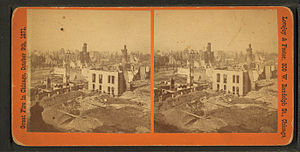 West Side, Chicago - View of Randolph Street after the Great Chicago Fire.