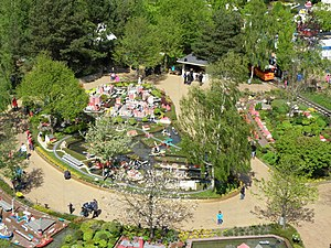Billund, Denmark - Legoland amusement park, view from the tower.