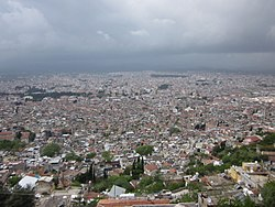 A view of Antakya from the high ground
