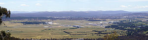 Fairbairn, Canberra - Fairbairn viewed from Mount Ainslie