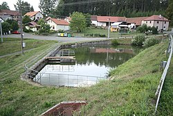 Village pond in Vranice, Píšť, Pelhřimov District.jpg
