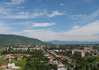 Vynohradiv City in Zakarpattia Oblast, Ukraine