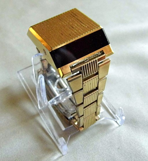 "Vintage Bulova Computron ""Sideview"" or ""Driver's LED Watch"", Original Band, Model 229, Dated ""N6"" on the Back for 1976 (8972895220)"